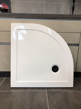 Britton Zamori Quadrant White Shower Tray - 800 x 800mm (EX DISPLAY) - NO WASTE